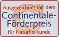 Auszeichnung Continetale Förderpreis Naturheilkunde